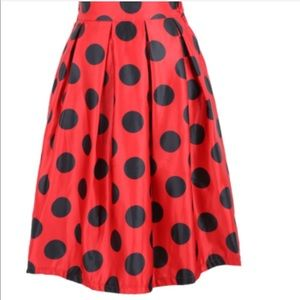 Dresses & Skirts - ⬇️$30 High Waist 50's Retro Red/Blk Polkadot SKIRT